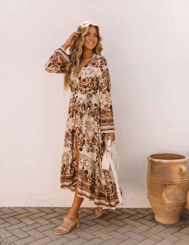 Riverwood Floral High Low Wrap Maxi Dress view 7