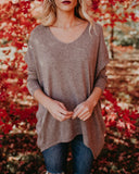 First To Know Cotton Blend Sweater - Mocha