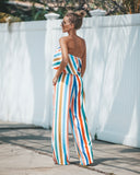 Carousel Striped Pocketed Jumpsuit - FINAL SALE