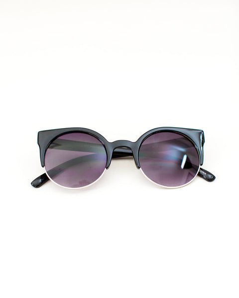 Too Cool Sunglasses - Black/Silver