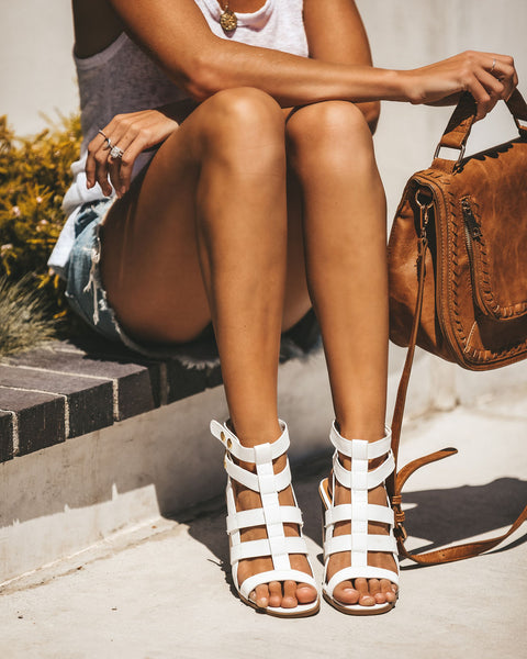 Mystic Heeled Gladiator Sandal - White - FINAL SALE