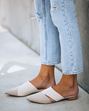 Candace Two-Tone Pointed Mule