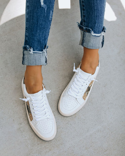 Hide + Chic Faux Leather Glitter Sneaker  - FINAL SALE