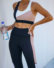 Step By Step Colorblock Sports Bra