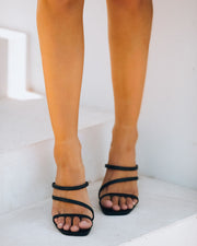 Lovestruck Strappy Heeled Sandal - Black