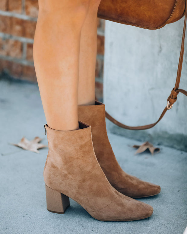 Colby Faux Suede Heeled Bootie