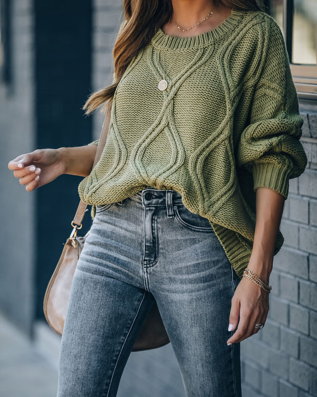 Char Cotton Blend Relaxed Sweater