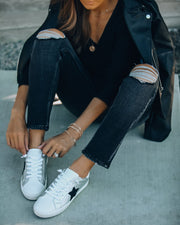 Silver Lining Faux Leather Sneaker