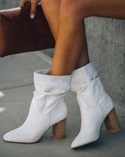 Darby Heeled Slouch Bootie - Stone