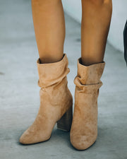 Darby Heeled Slouch Bootie - Toffee