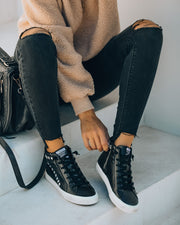 In The Crowd Studded High-Top Sneaker - Black