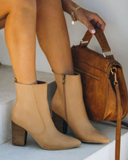 Culture Faux Leather Heeled Bootie view 6