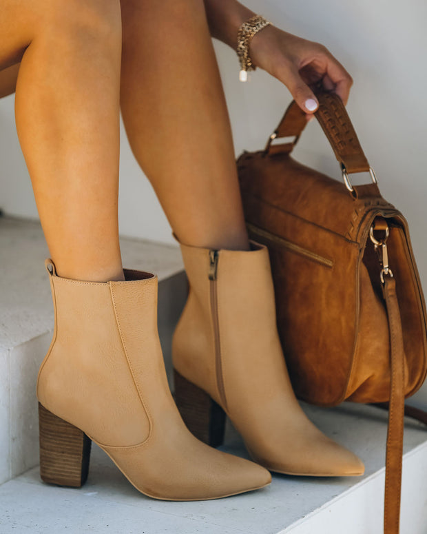 Culture Faux Leather Heeled Bootie