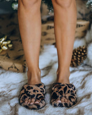Wren Faux Fur Slipper - Leopard