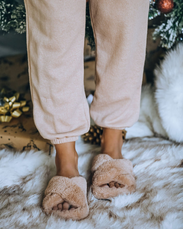 Wren Faux Fur Slipper - Natural