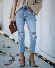 Dani Distressed High Rise Denim view 3