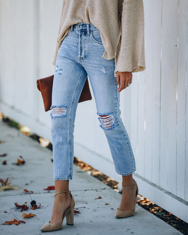 Dani Distressed High Rise Denim view 9