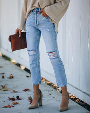 Dani Distressed High Rise Denim view 10