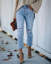 Dani Distressed High Rise Denim