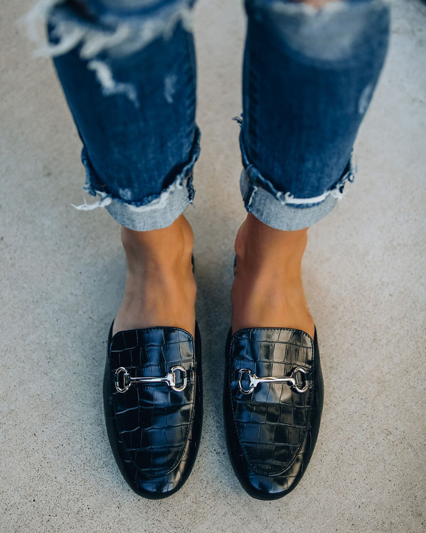 Cruise Croc Embossed Loafer Mule