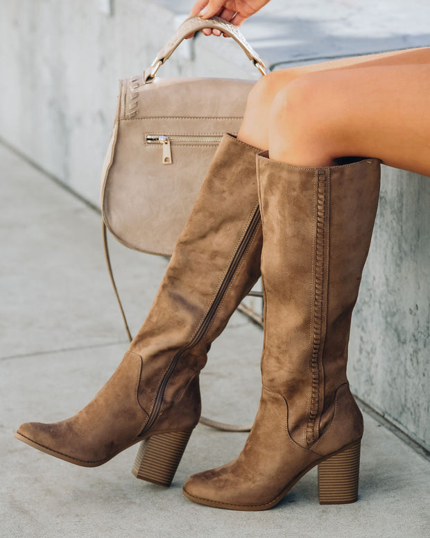 Praise Faux Suede Heeled Boot view 3