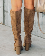 Praise Faux Suede Heeled Boot view 5