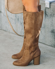 Praise Faux Suede Heeled Boot view 8