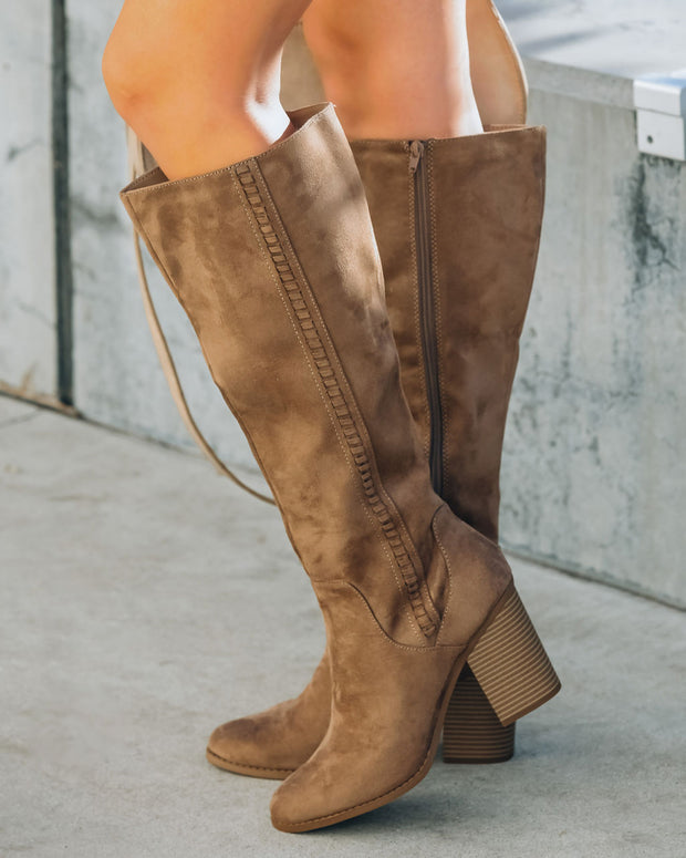 Praise Faux Suede Heeled Boot view 7