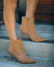 Britt Faux Suede Heeled Bootie - Camel view 9