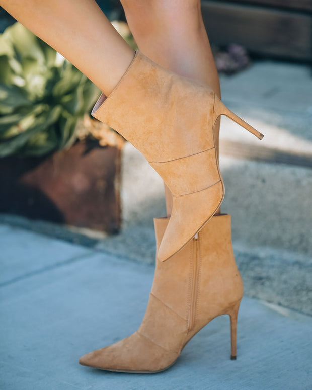 Britt Faux Suede Heeled Bootie - Camel view 7