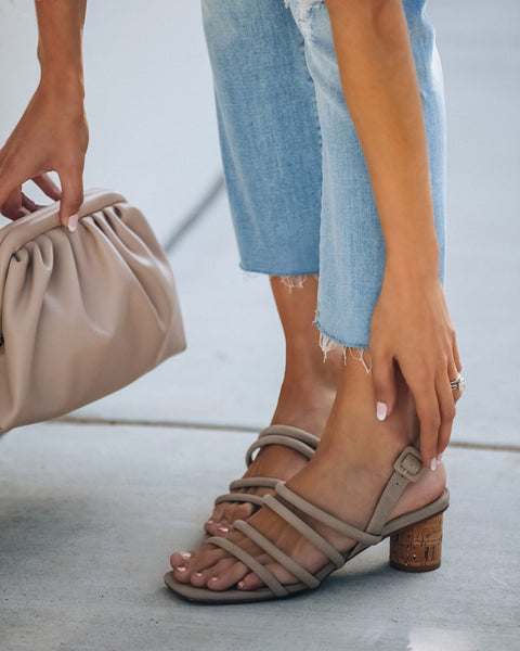 Rumor Strappy Heeled Sandal - Taupe