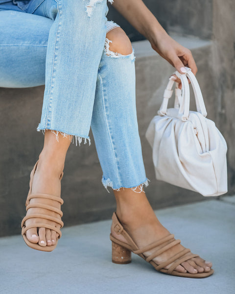 Rumor Strappy Heeled Sandal - Natural