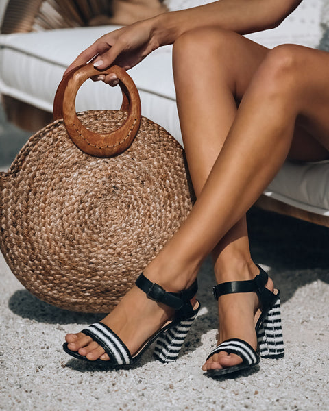 Carnival Woven Striped Heeled Sandal