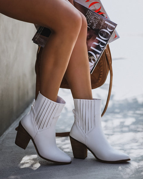 Nevada Faux Leather Heeled Bootie