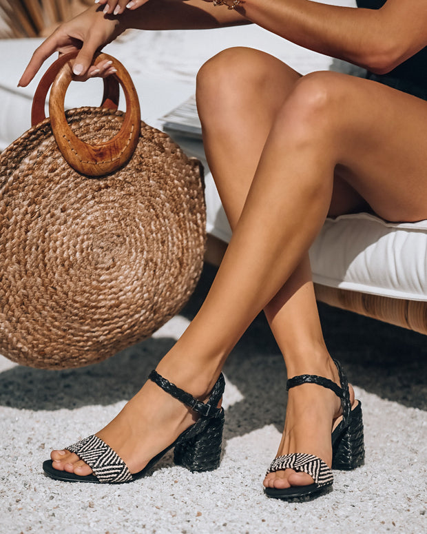 Tulum Woven Raffia Heeled Sandal - FINAL SALE