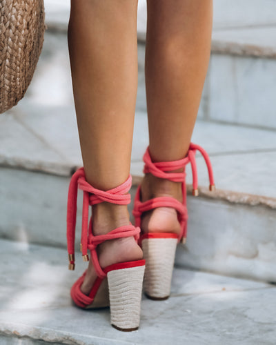Seville Knotted Wrap Heeled Sandal - FINAL SALE