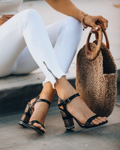 Sedona Striped Woven Heeled Sandal - FINAL SALE