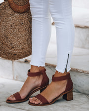 Angie Heeled Sandal - Clay