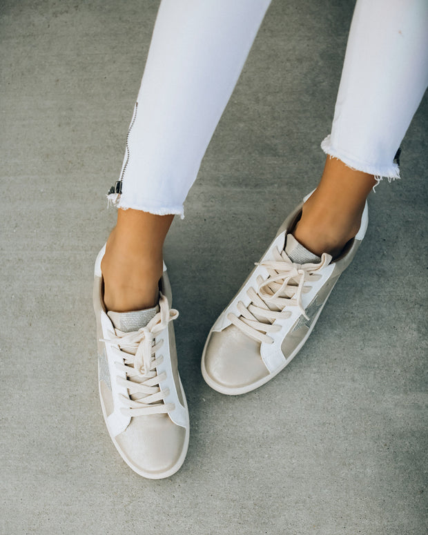 Glisten Up Faux Leather Sneakers