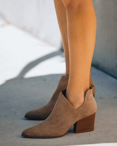 Farmstead Faux Suede Bootie  - FINAL SALE