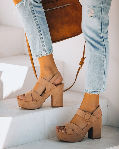 Level Up Faux Suede Platform Sandal
