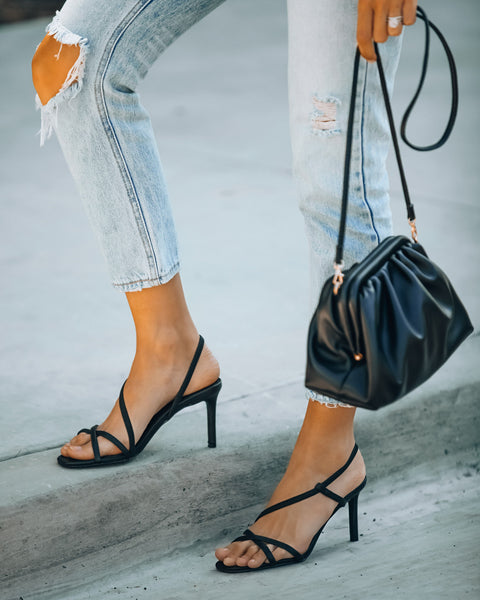 Campaign Strappy Heeled Sandal - Black