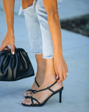 Campaign Strappy Heeled Sandal - Black  - FINAL SALE