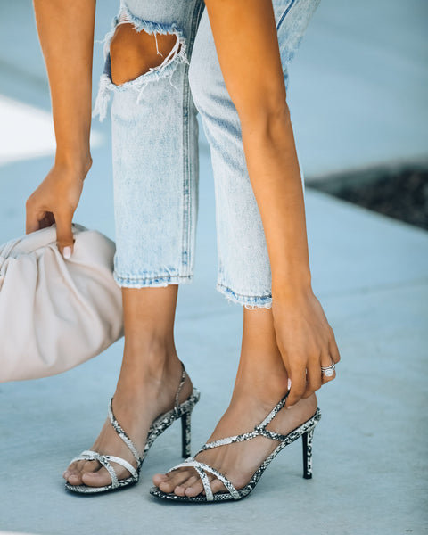 Campaign Strappy Heeled Sandal - Snake - FINAL SALE