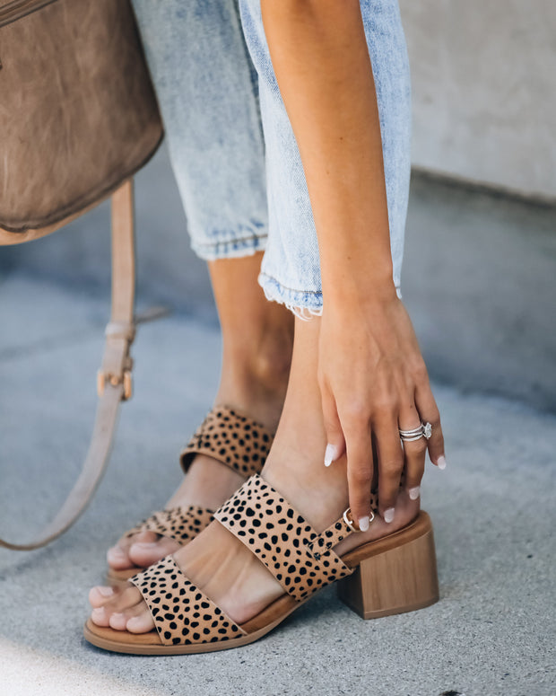 Yula Heeled Cheetah Sandal
