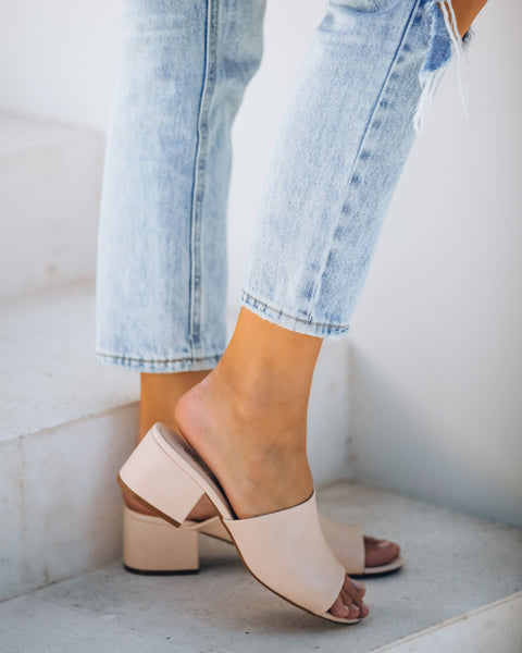 Hollister Peep Toe Heeled Mule