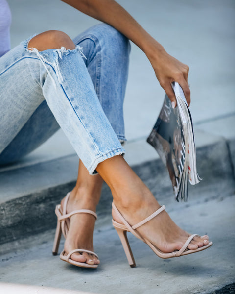 Clique Strappy Heeled Sandal - Nude