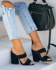 Janessa Block Heeled Sandal - Black