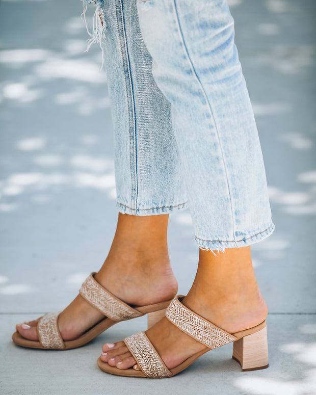 Scottsdale Raffia Block Heeled Sandal view 7