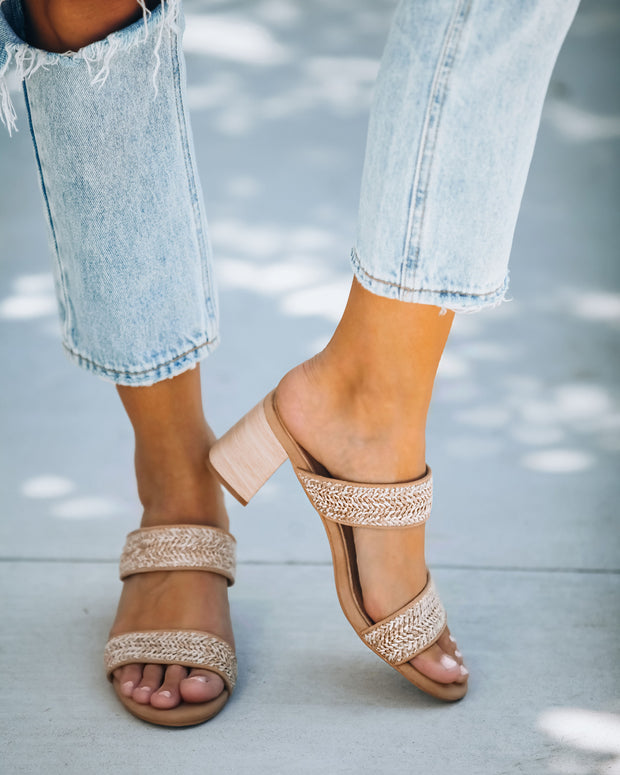 Scottsdale Raffia Block Heeled Sandal view 6